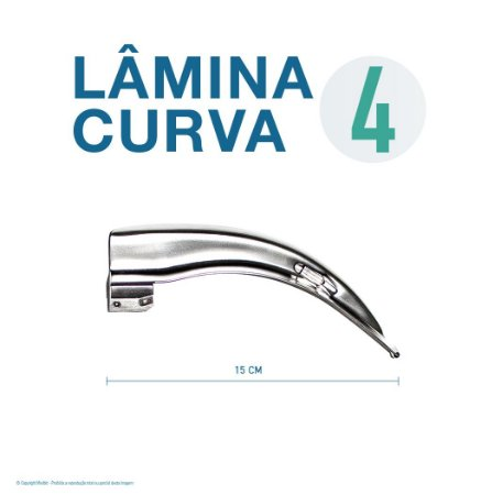 LAMINA LARINGO CURVA CONVENCIONAL ACO INOX 4
