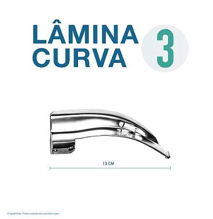 LAMINA LARINGO CURVA CONVENCIONAL ACO INOX 3