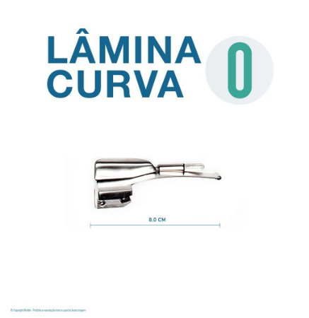 LAMINA LARINGO CURVA CONVENCIONAL ACO INOX 0