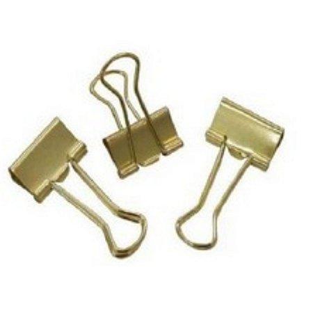 Prendedor de papel 116119 Binder 19mm Dourado avulso | CiS
