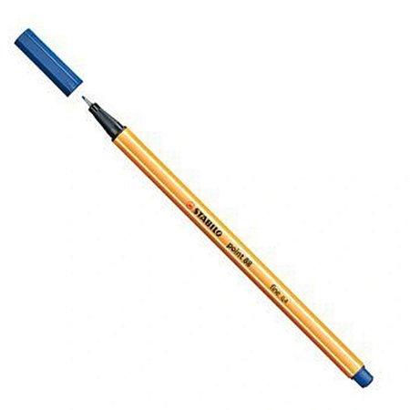 Caneta hidrográfica Fine Point 88/22 - 0.4mm - Azul Marinho   Stabilo