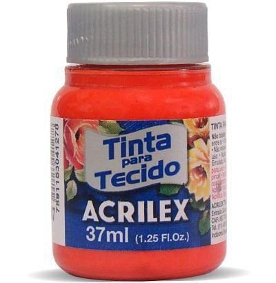 Tinta para Tecido 37ml - Vermelho Fogo 507 | Acrilex