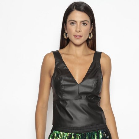 Blusa Anne Leather