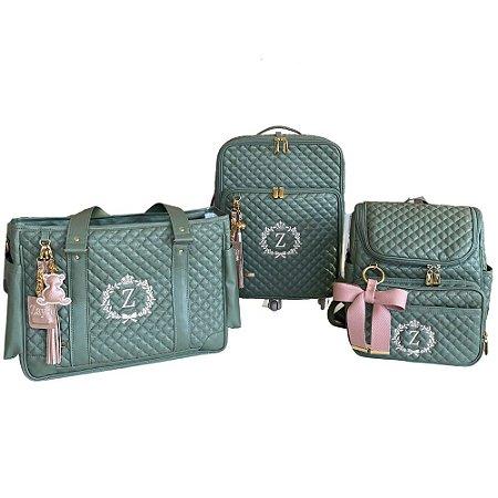 Kit Maternidade Verde Oliva Luxo
