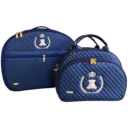 Kit Maternidade Luxo Azul Marinho