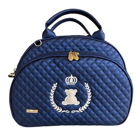Bolsa Maternidade Média Linha Luxo Azul Marinho