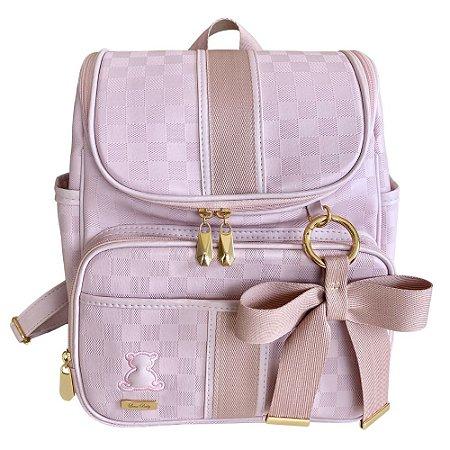 Mochila Maternidade Bag Lv Rosa