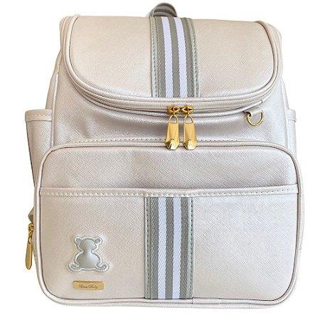 Mochila Maternidade Bag Branco Perolado