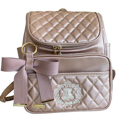 Mochila Maternidade Bag Rose Gold