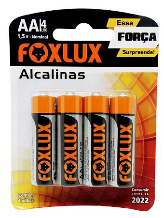 Pilha AA Alcalina Foxlux com 4 unidades 95.01