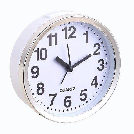 Relógio Despertador Modelo 5 Branco 680BC