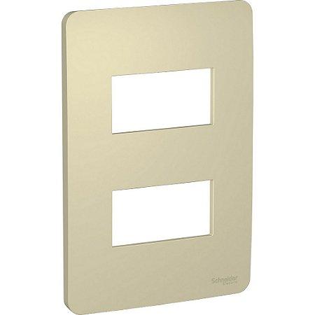 Placa 4x2 2 Postos Horizon Gold Schneider Orion S730121234