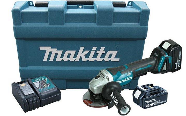 Esmerilhadeira Angular 4.1/2' Bateria 18V Makita DGA455RFE