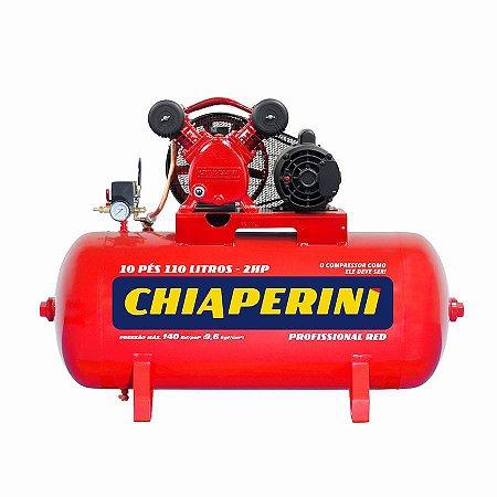 Compressor de ar média pressão 10 pcm 110 litros Chiaperini 10/110 RED Mono