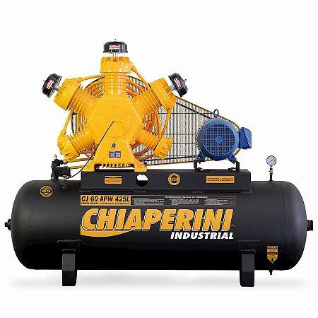 Compressor de ar alta pressão 60 pcm 425 litros - Chiaperini CJ 60 APW 425L 723