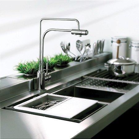 Misturador Monocomando para Cozinha de Mesa com saída para Água Filtrada Lorenzetti Kitchen 2263 C76