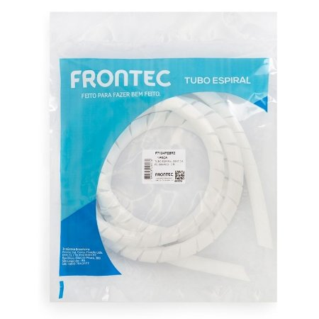 Tubo Spiral 3/4' Branco Frontec Blister com 2 metros