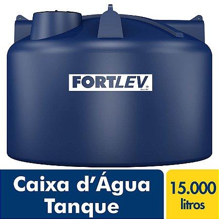 Caixa D'Água Tanque de Polietileno com Tampa de Rosca Azul 15.000Lt Fortlev