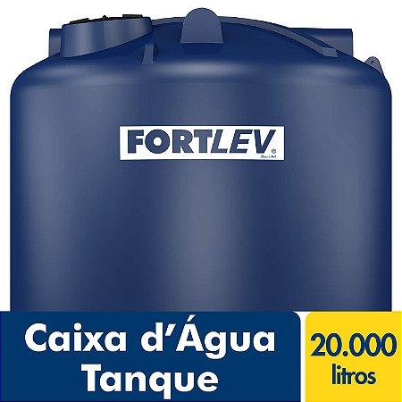 Caixa D'Água Tanque de Polietileno com Tampa de Rosca Azul 20.000Lt Fortlev