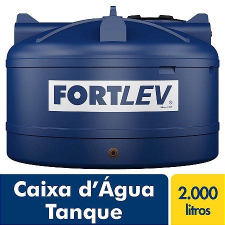 Caixa D'Água Tanque de Polietileno com Tampa de Rosca Azul 2000Lt Fortlev