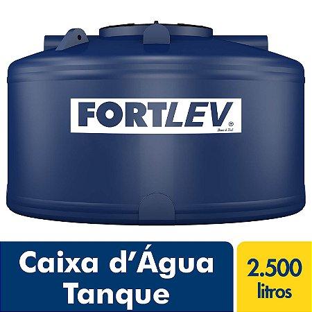 Caixa D'Água Tanque de Polietileno com Tampa de Rosca Azul 2500Lt Fortlev