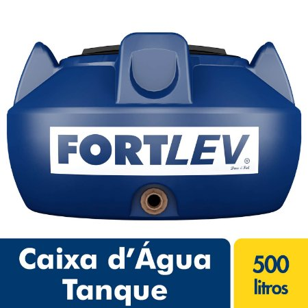 Caixa D'Água Tanque de Polietileno com Tampa de Rosca Azul 500Lt Fortlev