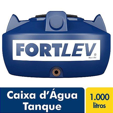 Caixa D'Água Tanque de Polietileno com Tampa de Rosca Azul 1000Lt Fortlev