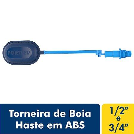 Torneira de Boia Haste em Abs Azul Fortlev