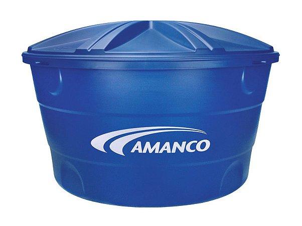 Caixa D'Água 310Lt Polietileno Azul Amanco 19210
