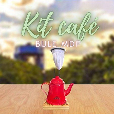 KIT CAFÉ NO BULE MDF