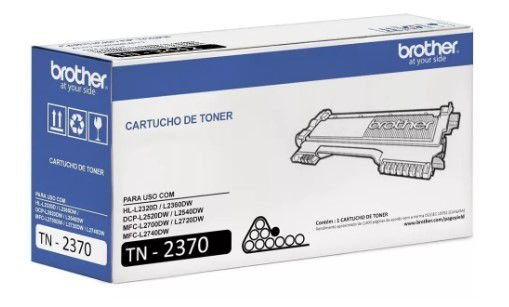 Cartucho toner p/Brother preto TN2370