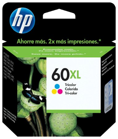Cartucho HP 60XL Colorido - CC644WB
