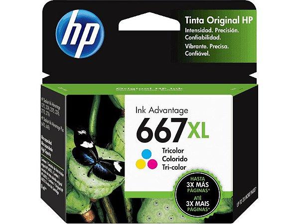 Cartucho HP 667XL Colorido - 3YM80AL