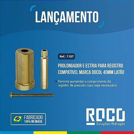 Prolongador e estria p/ registro Docol 40mm