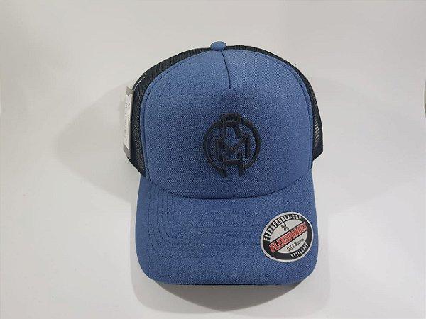 Boné Trucker Snapback RMH - Aba CurVa - Azul e Preto