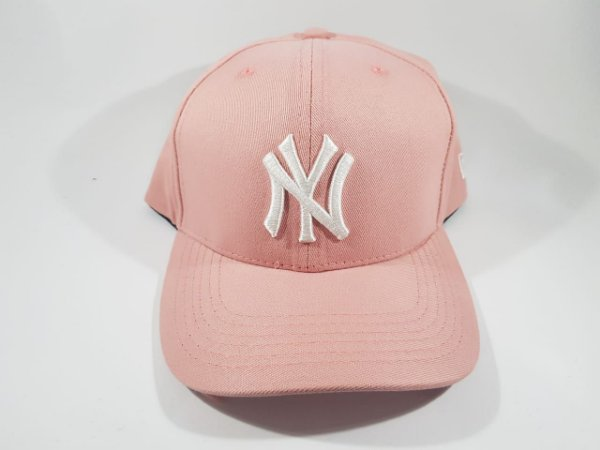 Boné Strapback NY new York  - Aba curva - Rosa