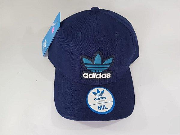 Boné Strapback Adidas - Aba curva - Azul Marinho