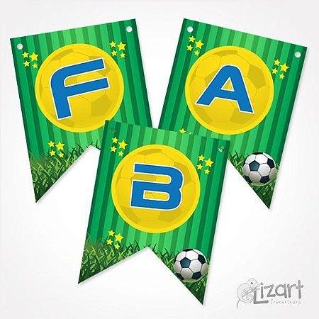 Bandeirola Personalizada Futebol