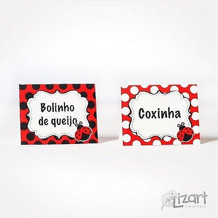 Tags de identificação para Buffet Joaninha - 10 unid