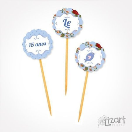 Toppers personalizados Charme - 25 unid