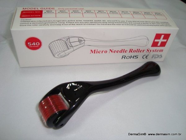 Dermaroller 540 agulhas - 2.0mm