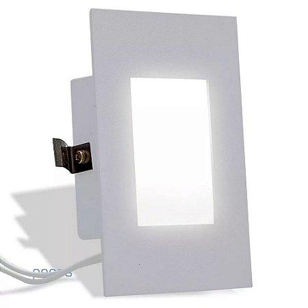 Balizador Luminária Parede Embutir Caixa 4x2 Escada Lâmpada LED G9