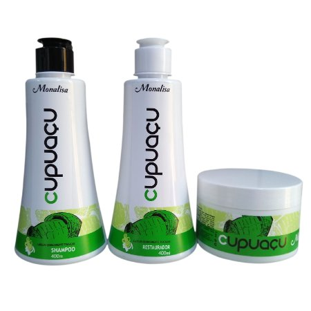 Kit Cupuaçu Shampoo +  Condicionador + Mascara