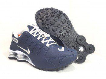 caab4abfa1b ... reduced tênis masculino nike shox nz azul marinho e branco 911fb 7d705  ...