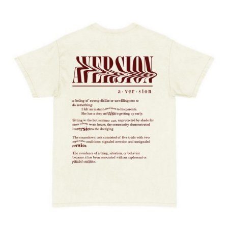 Camiseta T-shirt Aversion Unissex Branca Off-White - Model Dictionary