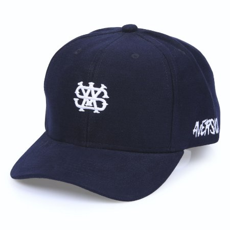 Boné Aversion Snapback Aba Curva Azul - Model Mini Logo
