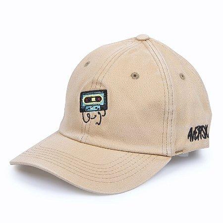 Boné Aversion Dad Hat Aba Curva Bege Estonado - Model K7