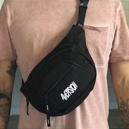Pochete Aversion Waist Bag Preta Unissex