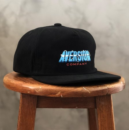 Boné Aversion Snapback Desestruturado Aba Reta Preto - Model Thunder