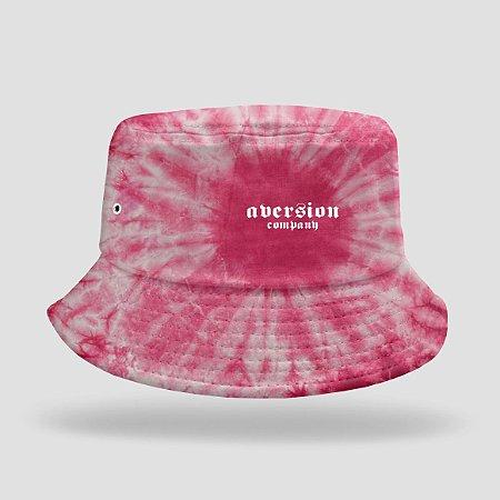 Chapéu Bucket Hat Aversion Tie Dye Vermelho